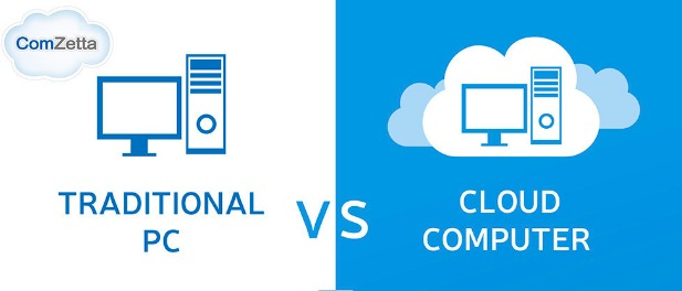 Cloud Computer Vs. Traditional PC  infographic   Visualistan